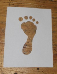 golden footprint notebook